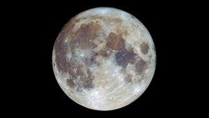 Preview wallpaper moon, satellite, spots, space, dark