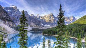 Preview wallpaper moraine lake, alberta, canada, hdr