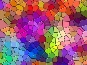 Preview wallpaper mosaic, multicolored, texture, patterns