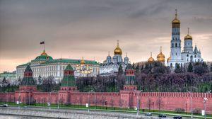 Preview wallpaper moscow, kremlin, kremlin wall, promenade, church, temple, capital