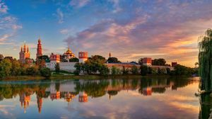 Preview wallpaper moscow, novodevichy convent mother of god of smolensk, summer