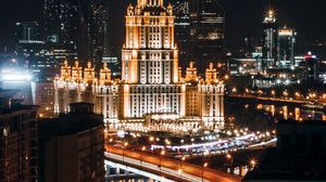 Preview wallpaper moscow, russia, night city, architecture