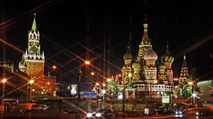 Preview wallpaper moscow, russia, red square, light, evening