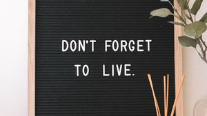 Preview wallpaper motivation, life, inscription, plate, text