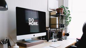 Preview wallpaper motivation, phrase, words, computer, imac