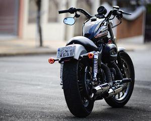 Preview wallpaper moto, harley, harley davidson 883
