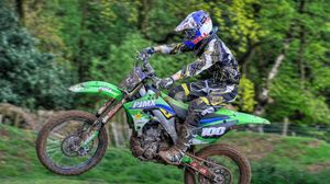 Preview wallpaper motocross, motorcycle, competition, racer