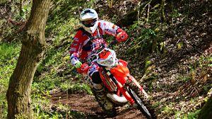 Preview wallpaper motocross, rider, sand