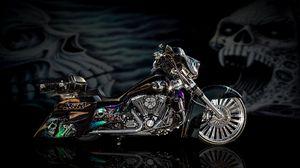 Preview wallpaper motorcycle, bike, design, airbrush