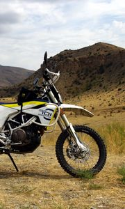 Preview wallpaper motorcycle, bike, mountains, nature