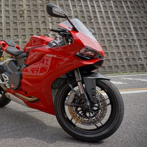 Preview wallpaper motorcycle, bike, red