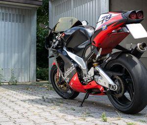 Preview wallpaper motorcycle, bike, red, black, parking