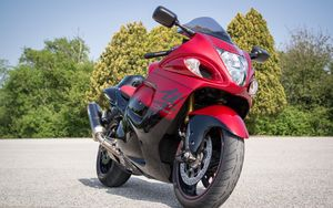 Preview wallpaper motorcycle, bike, red, front view