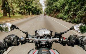 Preview wallpaper motorcycle, bike, road, speed