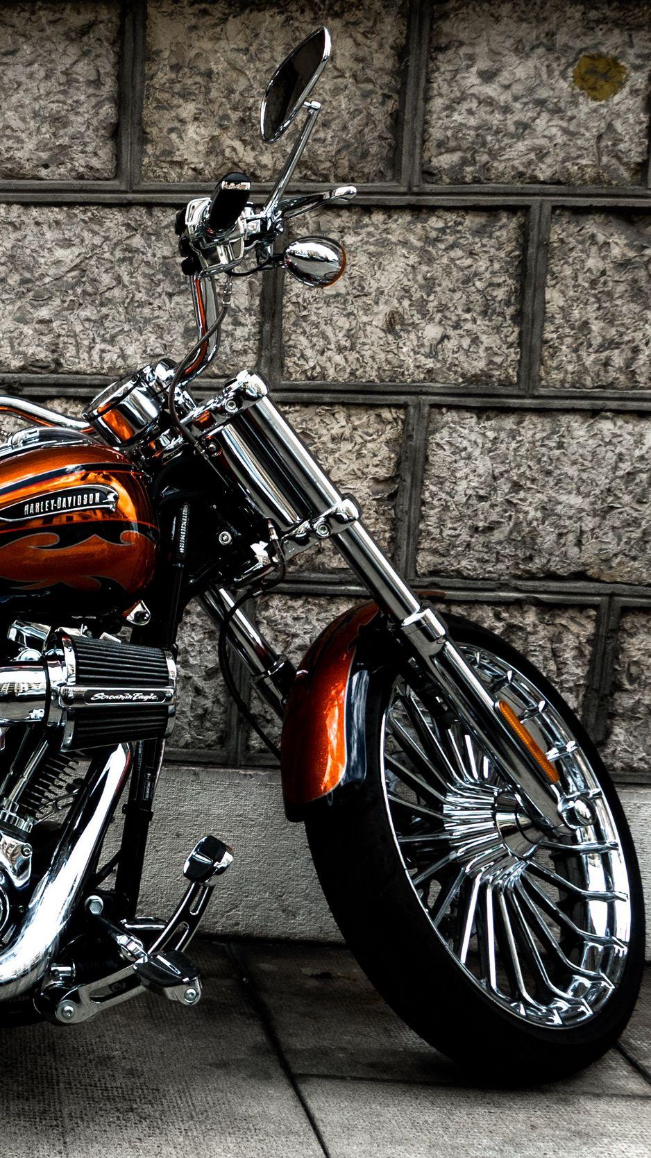 938x1668 Wallpaper motorcycle, bike, side view, wheel