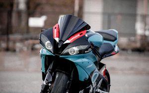 Preview wallpaper motorcycle, bike, sport bike, blue, front view