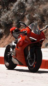 Preview wallpaper motorcycle, bike, sport bike, red