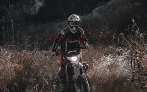 Preview wallpaper motorcycle, motorcyclist, cross, bike