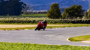 Preview wallpaper motorcycle, motorcyclist, speed, race, track
