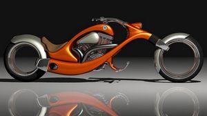 Preview wallpaper motorcycle, orange, stylish