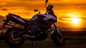 Preview wallpaper motorcycle, sunset, style