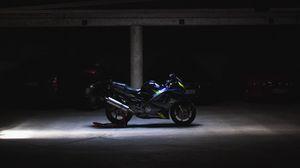 Preview wallpaper motorcycle, wheels, dark