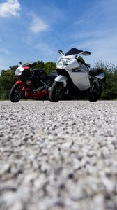 Preview wallpaper motorcycles, bikes, parking