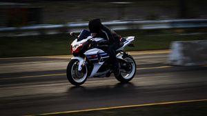 Preview wallpaper motorcyclist, speed, movement, adrenaline