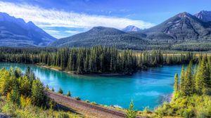 Preview wallpaper mountain, lake, landscape