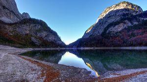 Preview wallpaper mountain, lake, landscape, reflection