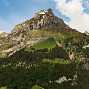 Preview wallpaper mountain, peak, foothills, landscape, nature