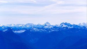 Preview wallpaper mountains, fog, haze, blue, landscape