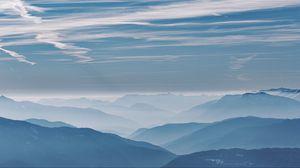 Preview wallpaper mountains, fog, haze, clouds, landscape