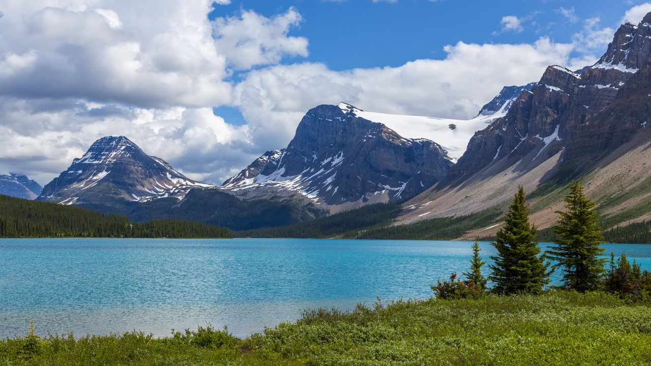 Wallpapermountains,lake,trees,nature高清壁纸免费下载
