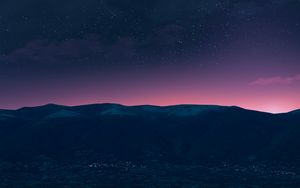 Preview wallpaper mountains, night, stars, starry sky