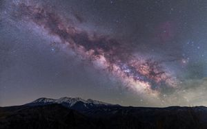 Preview wallpaper mountains, night, stars, milky way