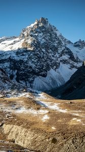 Preview wallpaper mountains, peak, snow, nature, landscape