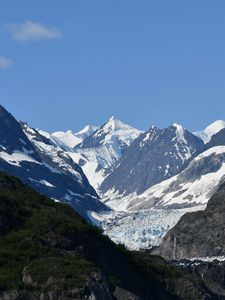 Preview wallpaper mountains, relief, snow, landscape