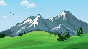 Preview wallpaper mountains, vector, landscape, nature