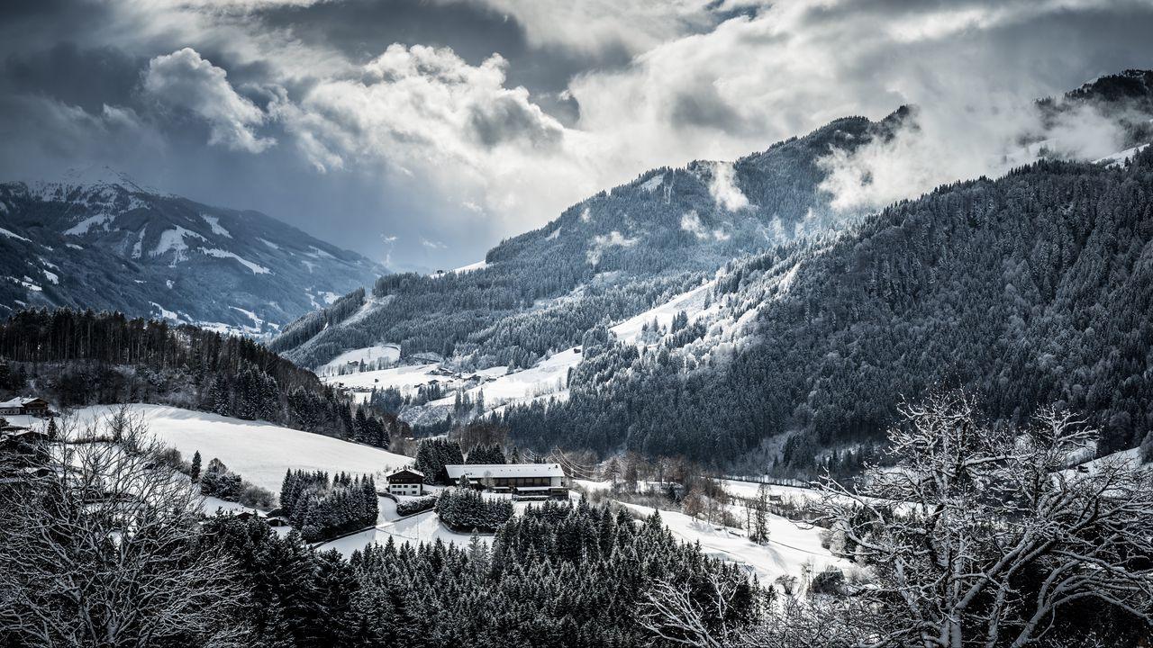 Wallpaper mountains, winter, snow