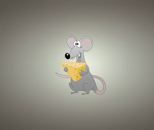 Preview wallpaper mouse, background, cheese, animal