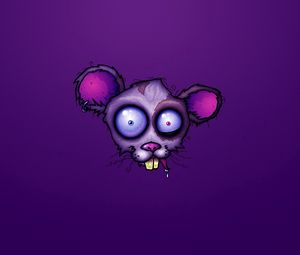 Preview wallpaper mouse, drawing, lilac