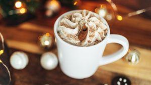 Preview wallpaper mug, drink, gingerbread, caramel sticks, christmas, new year