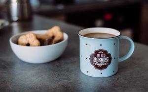 Preview wallpaper mug, inscription, coffee, breakfast