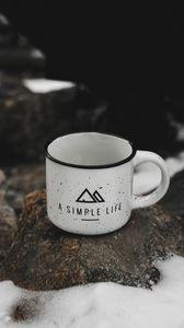 Preview wallpaper mug, inscription, logo