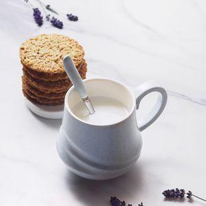 Preview wallpaper mug, milk, drink, cookies, dessert