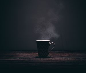 Preview wallpaper mug, steam, table