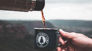 Preview wallpaper mug, thermos, camping, tea, drink