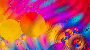 Preview wallpaper multicolored, circles, drops