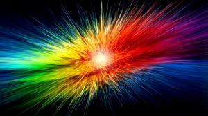 Preview wallpaper multicolored, explosion, shine, lines